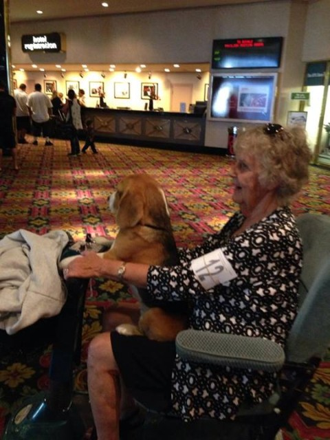 Anna, the Beagle and Suzanne Thomas at a Dog Show in Las Vegas.